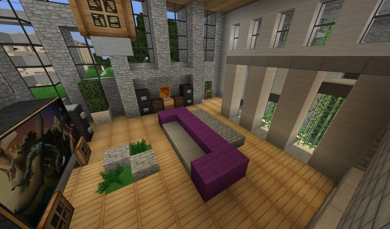 Living room furniture ideas for minecraft cool bedroom for 10 living room designs minecraft