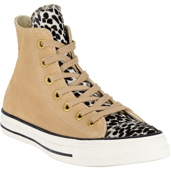 6446dfa5328d Converse Chuck Taylor All Star Animal Print Hi-Top Trainers ( 80) ❤ liked  on Polyvore featuring shoes