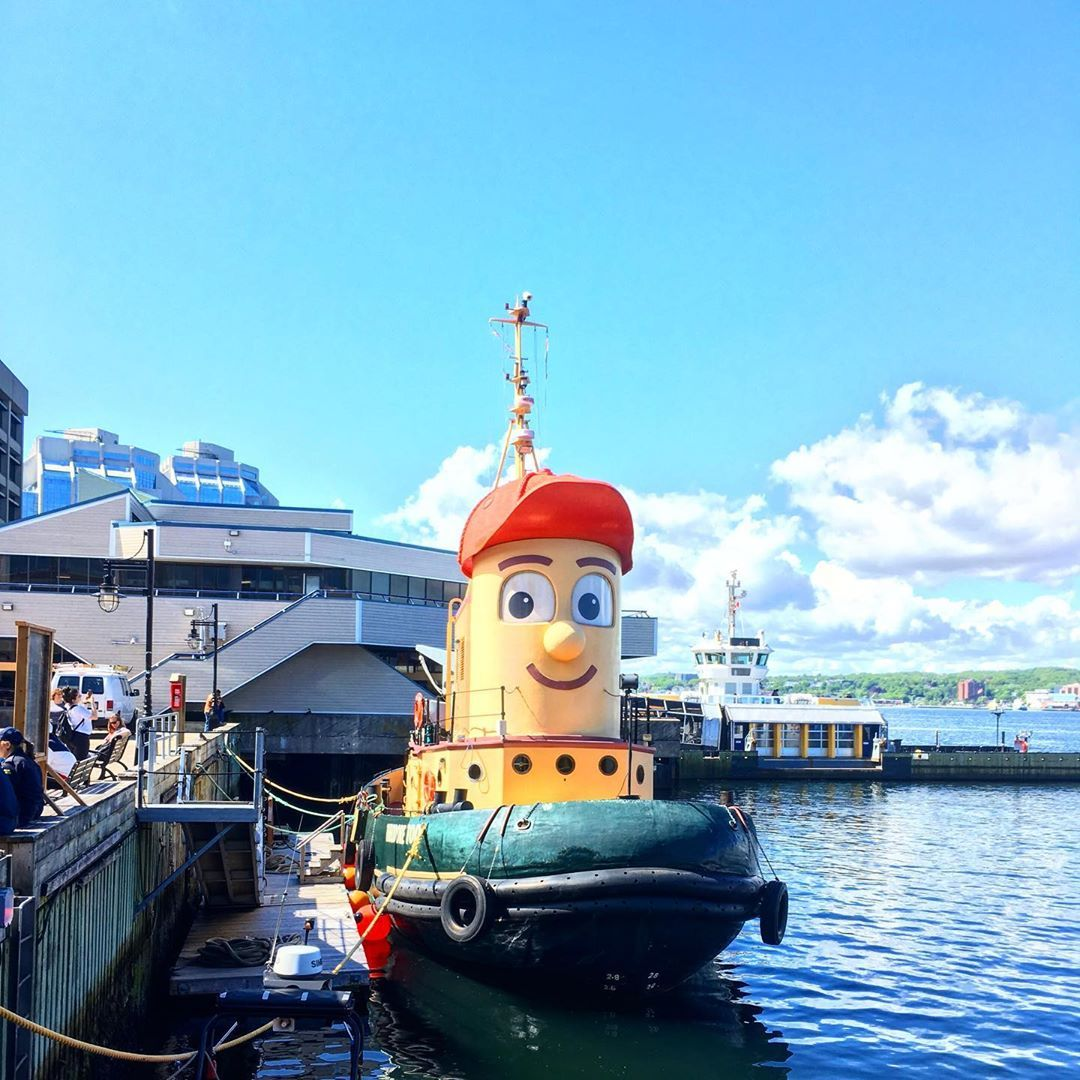 Happy ship in the harbour of Halifax  #novascotia #toronto #canada #vancouver #calgary #edmonton #ot...