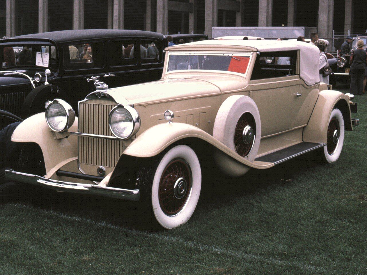 Cars 1930 Packard Convertible Coupe Tan Fvl 35mm Hershey PA 1970 ...