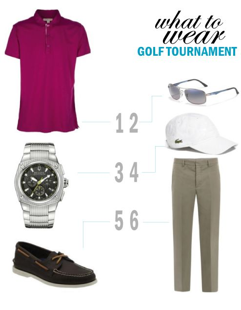 what to wear  golf tournament looks for men