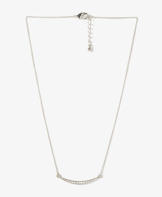 Cryscent Moon  Rhinestone Starter Necklace via Tresors De Luxe  ~ LUXE Jewelry  . Click on the image to see more!
