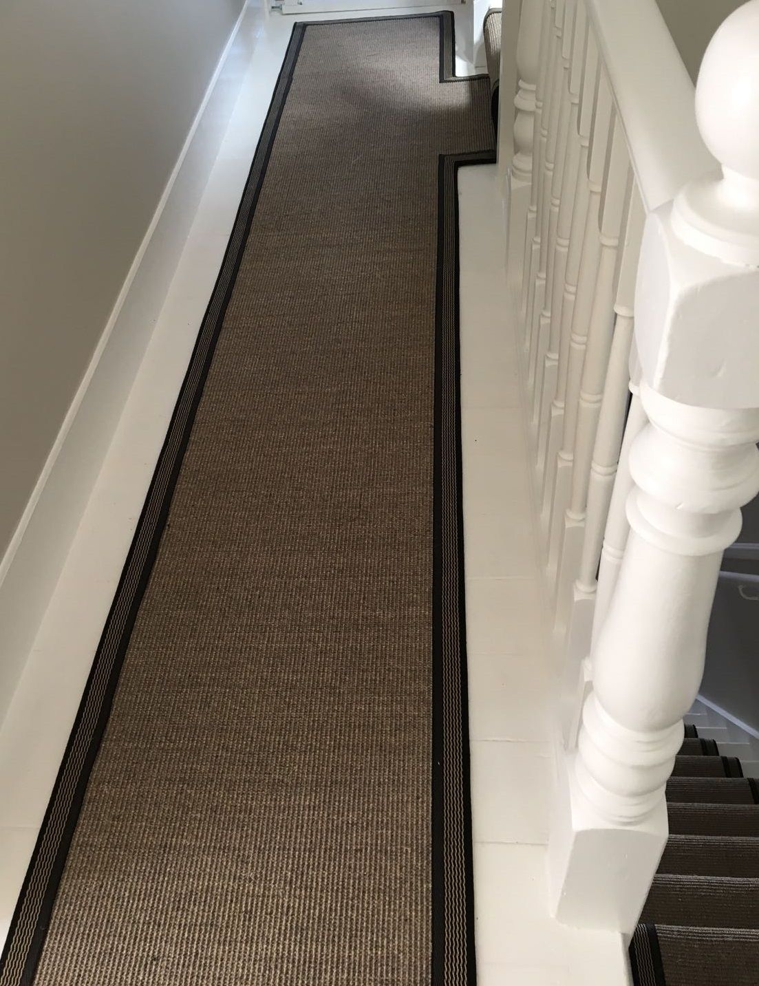 Best Crucial Trading Sisal Carpet Fitted As Bespoke Stair 400 x 300