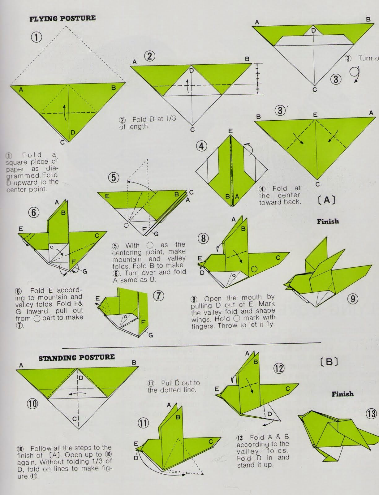 Step By Step Instructions How To Make Origami A Bird. Stock Vector -  Illustration of shape, pretty: 67184741   1600x1225
