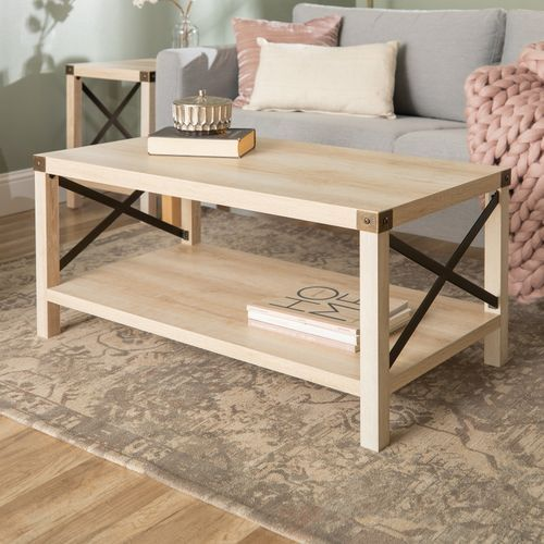 Modern Farmhouse White Oak Coffee Table