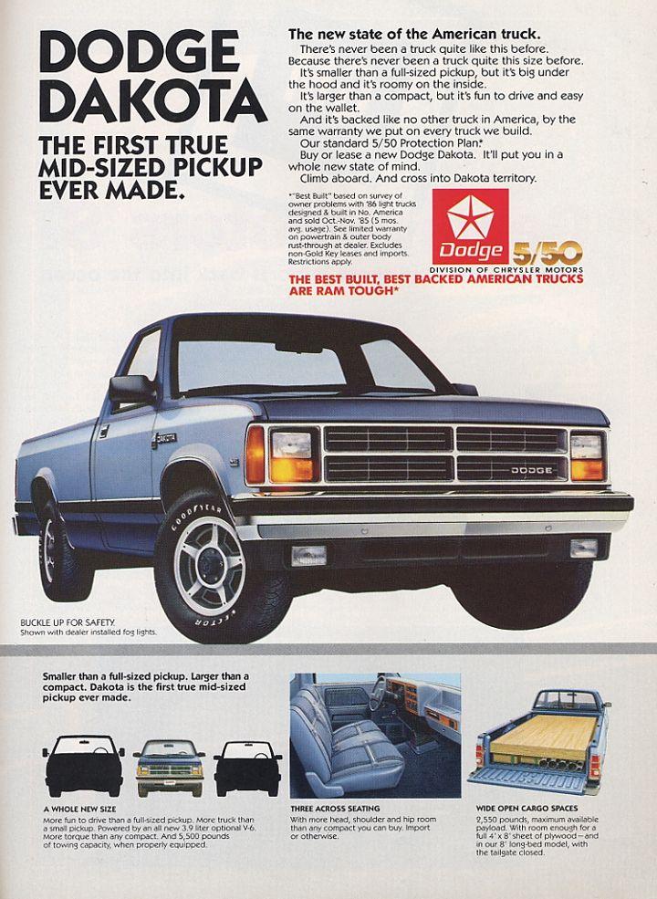 Dodge Dakota Ad Dodge Dakota Dakota Truck Dodge