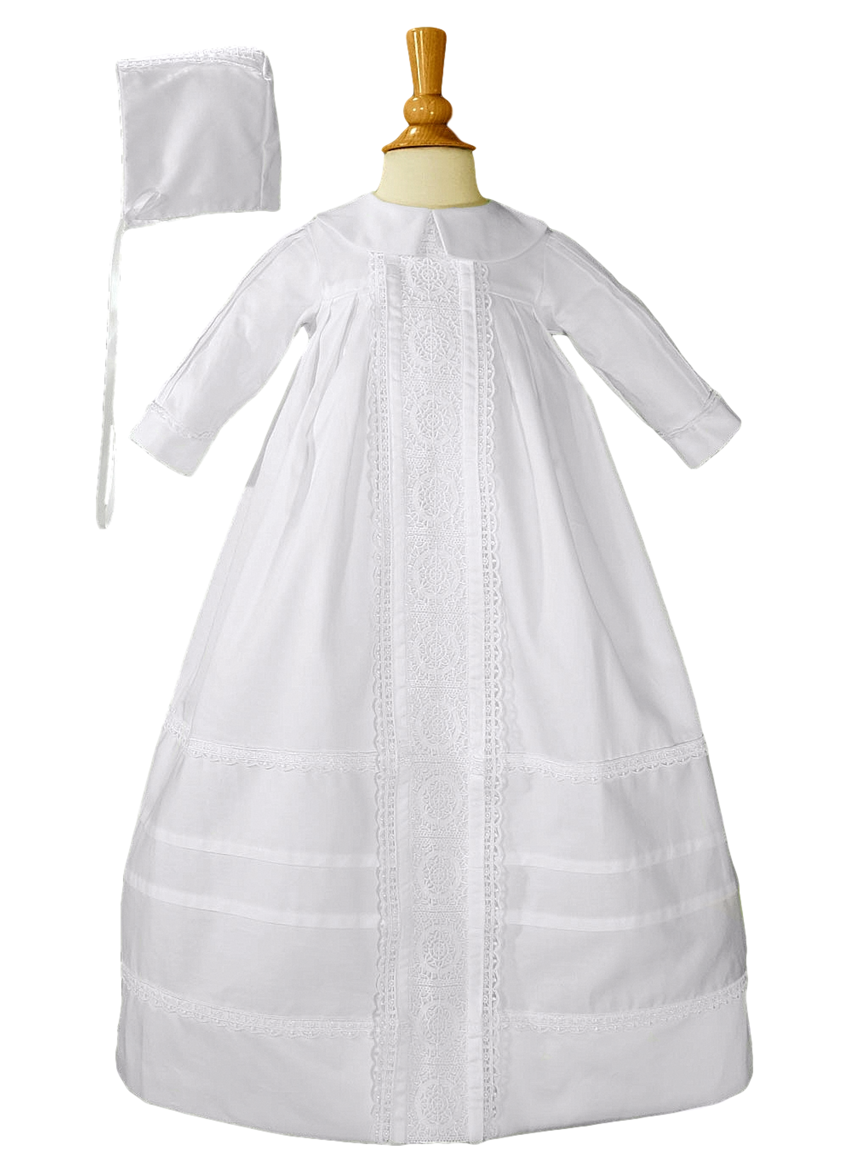 Baby Boys White Lace Bishop Christening Baptism Outfit Gown 3-12M
