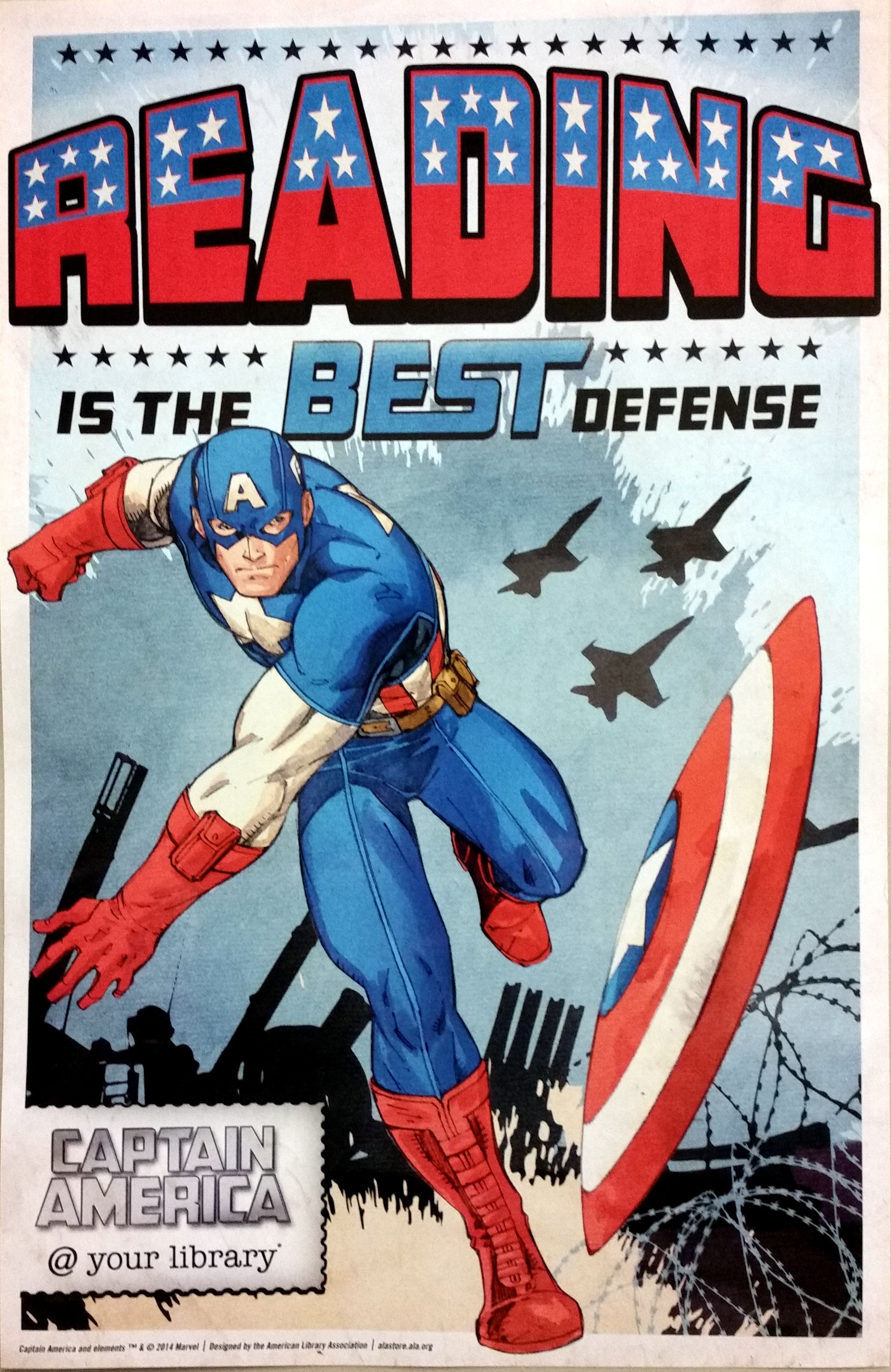 Captain America Your Library Reading Is The Best Defense