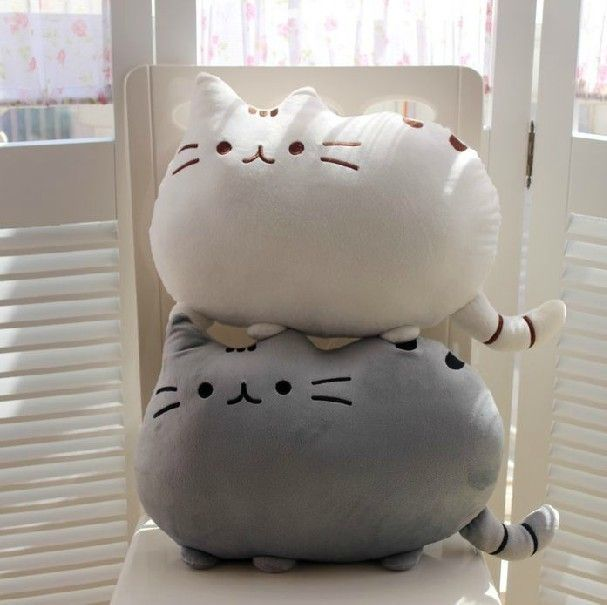 3.59$ (Buy here: http://alipromo.com/redirect/product/olggsvsyvirrjo72hvdqvl2ak2td7iz7/32380683464/en ) 40*30cm New Kawaii Pusheen Cat Pillow With Zipper Only Skin Without PP Cotton Biscuits Kids Toys Big Cushion Cover Peluche Gifts for just 3.59$