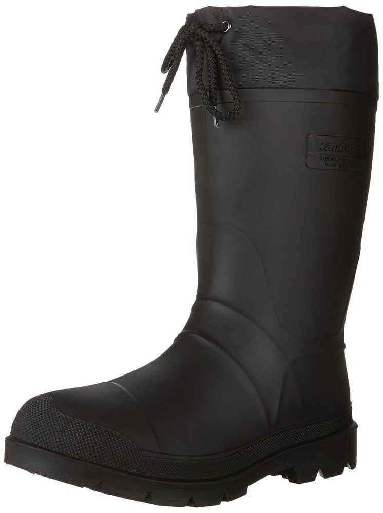 Kamik Men S Hunter Insulated Winter Waterproof Knee High Boot Black Size 9 Us Kamik Snowwinter Mens Hunter Boots Black Hunter Boots Rubber Hunting Boots