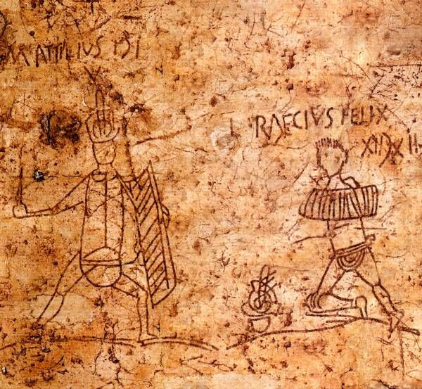 Roman graffiti gladiators were often immensely popular
