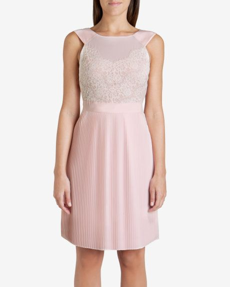 c250a92990845b Lace bodice reversible dress - Nude Pink