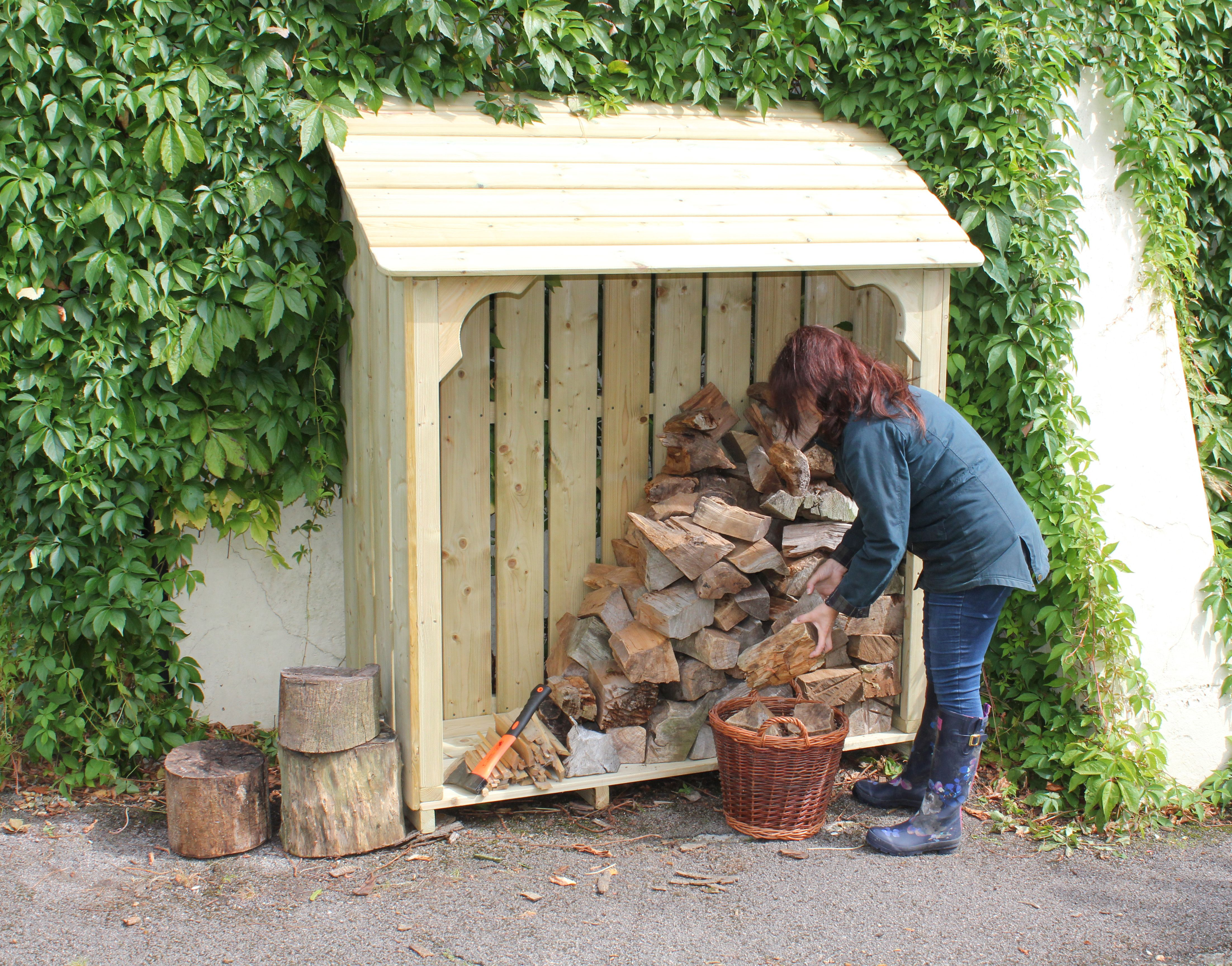 Best Okeford Log Store 4Ft Wide Log Store Wood Shed 400 x 300