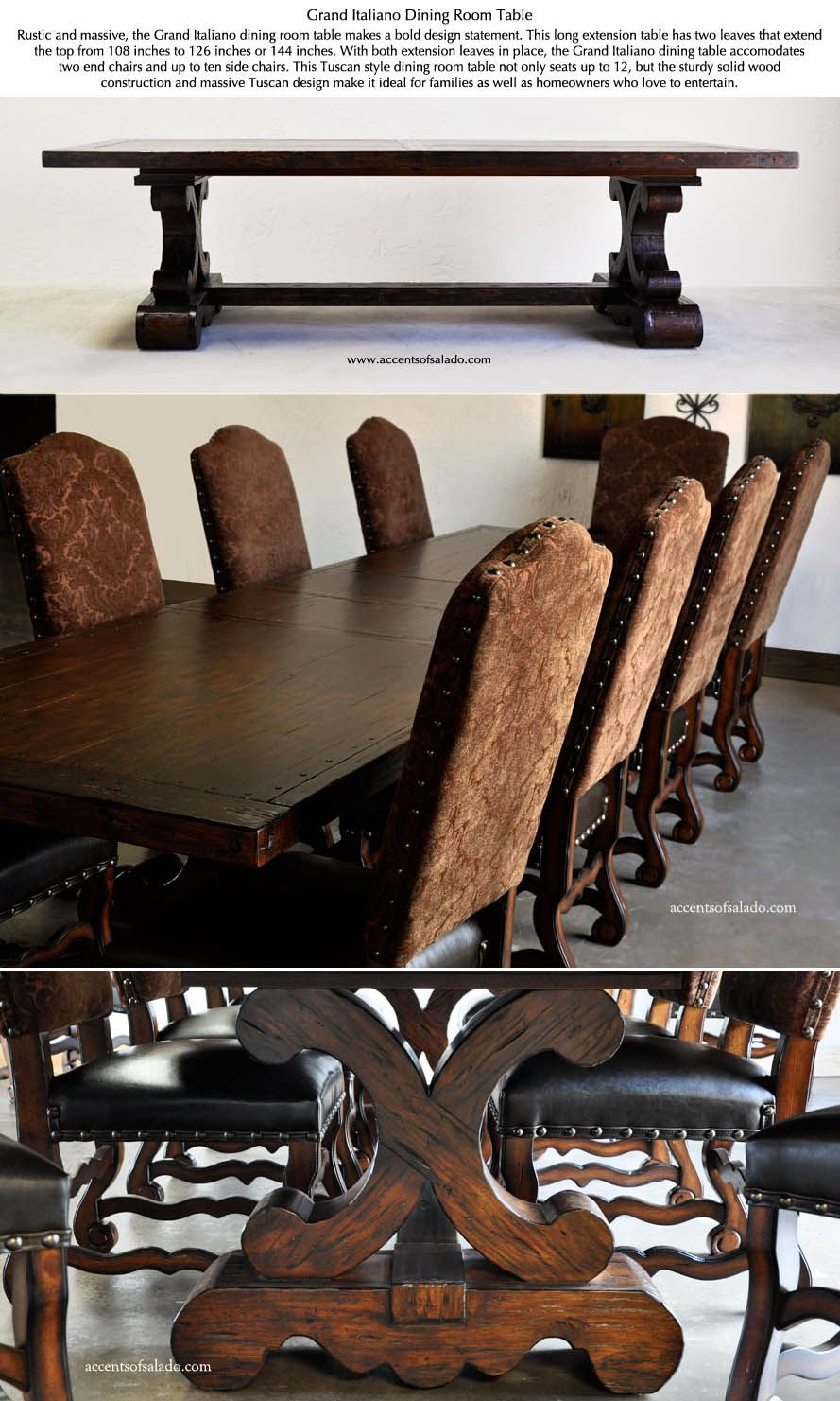 THE PERFECT HOLIDAY TABLE See Tuscan Dining Room Tables At Accents Of  Salado Furniture Store.
