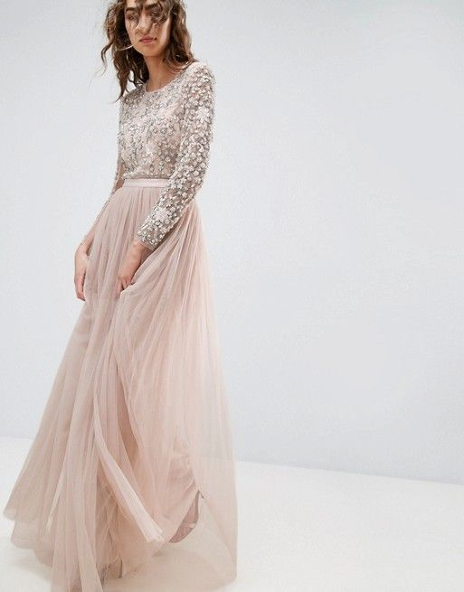 Needle and Thread Long Sleeve Embroidered Maxi Dress | Weddings ...