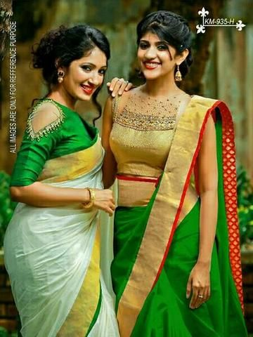 b8d2d36ebd4 White and Green Color Chanderi Cotton Sarees - WA0083  sarees  beautiful   festival  beautiful  new  trendy  zinnga
