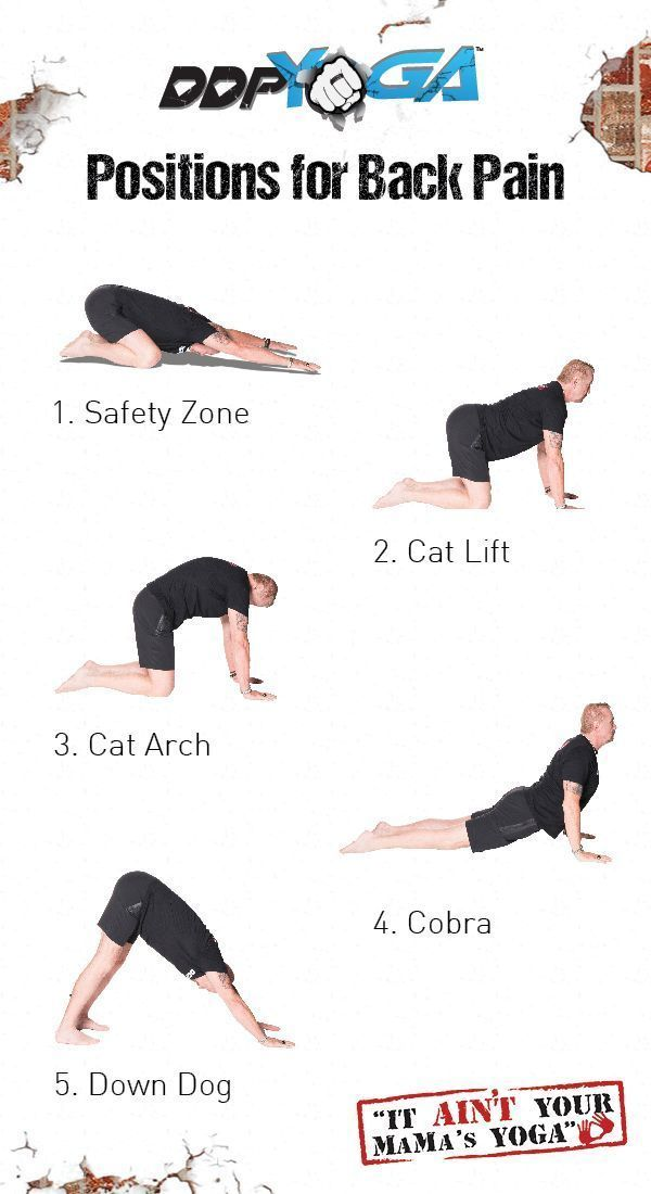 DDP YOGA Positions For Back Pain Based On A Recent Study These 5 Can