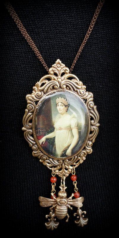 Ornate Baroque Photo Pendant of Empress Josephine by KCRlehrstudio,
