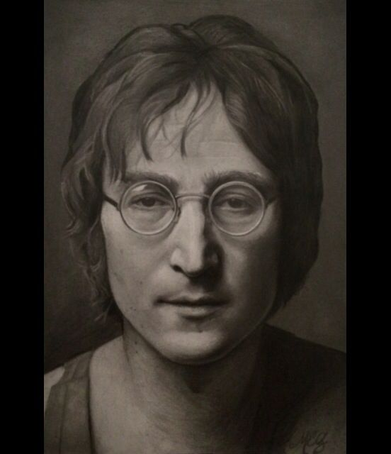 Drawing of John Lennon by Melissa Greco