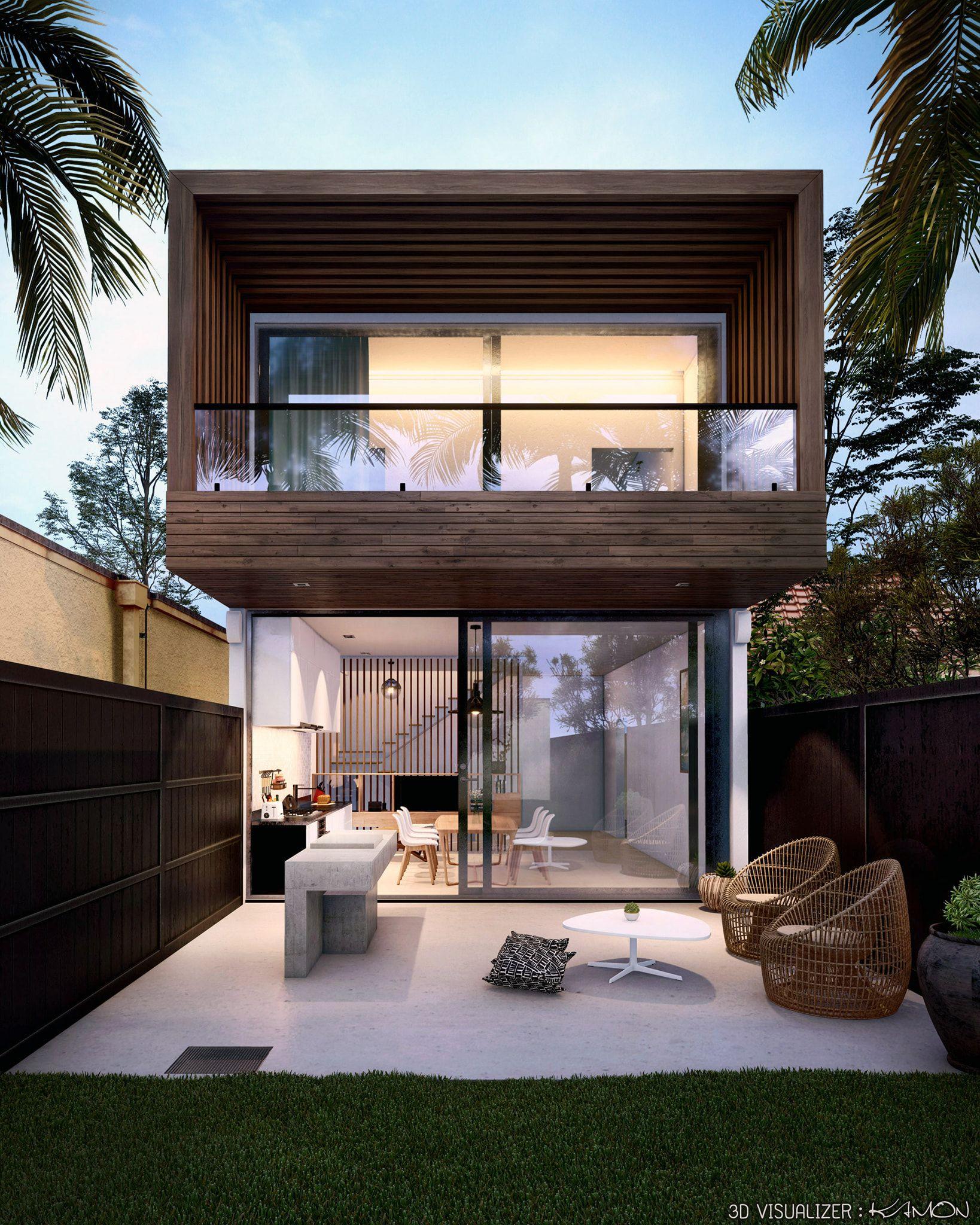 Backyard Loft House Design Loft House Modern Small House Design