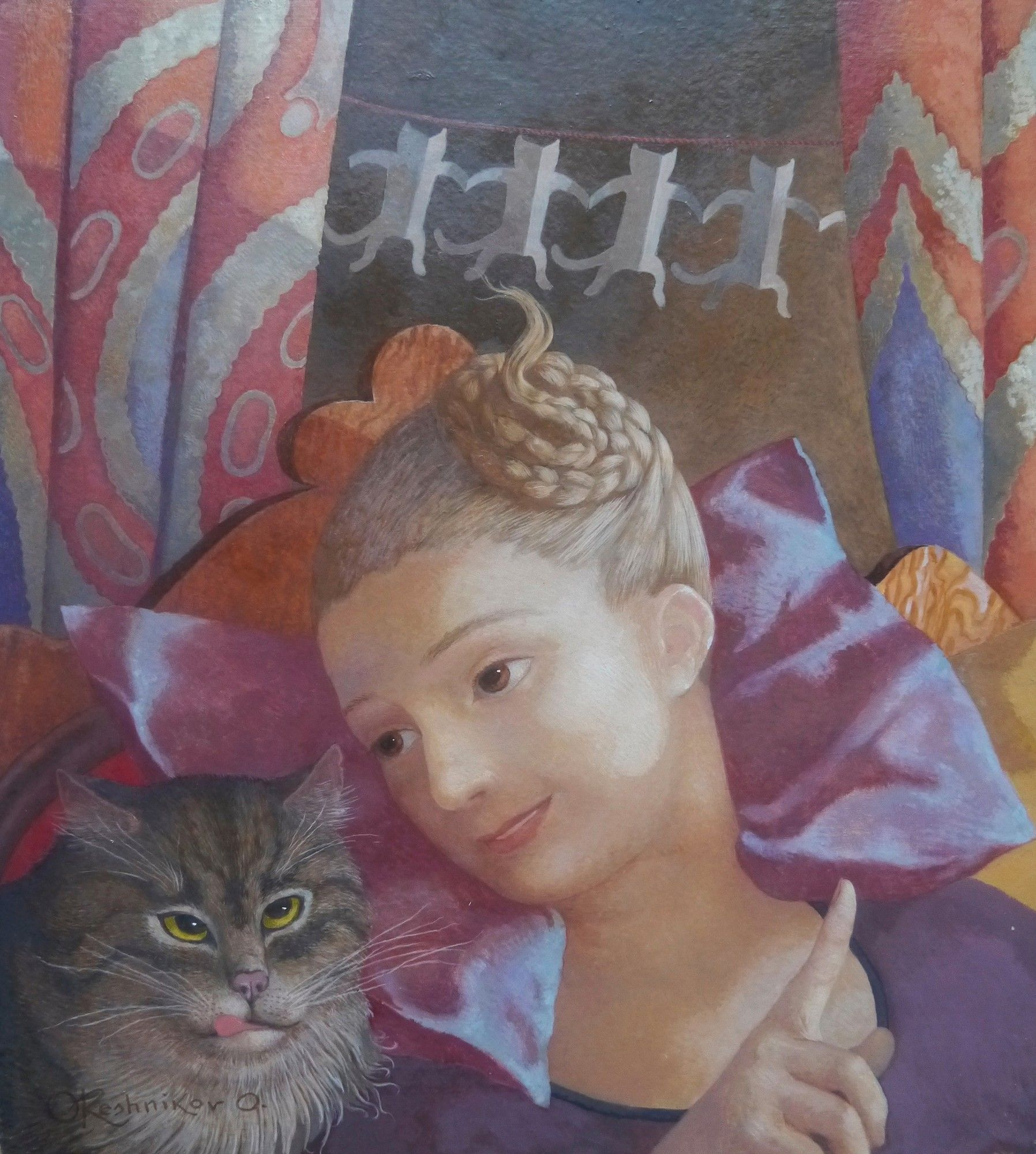Cat Tales by Olga Oreshnikov  Copyright remains with the artist.  #olgaoreshnikov  New Exhibition now open!