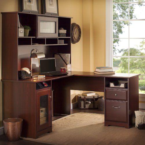 Toledo L-Shaped Executive Desk with Hutch Desks, Shapes and Barrels