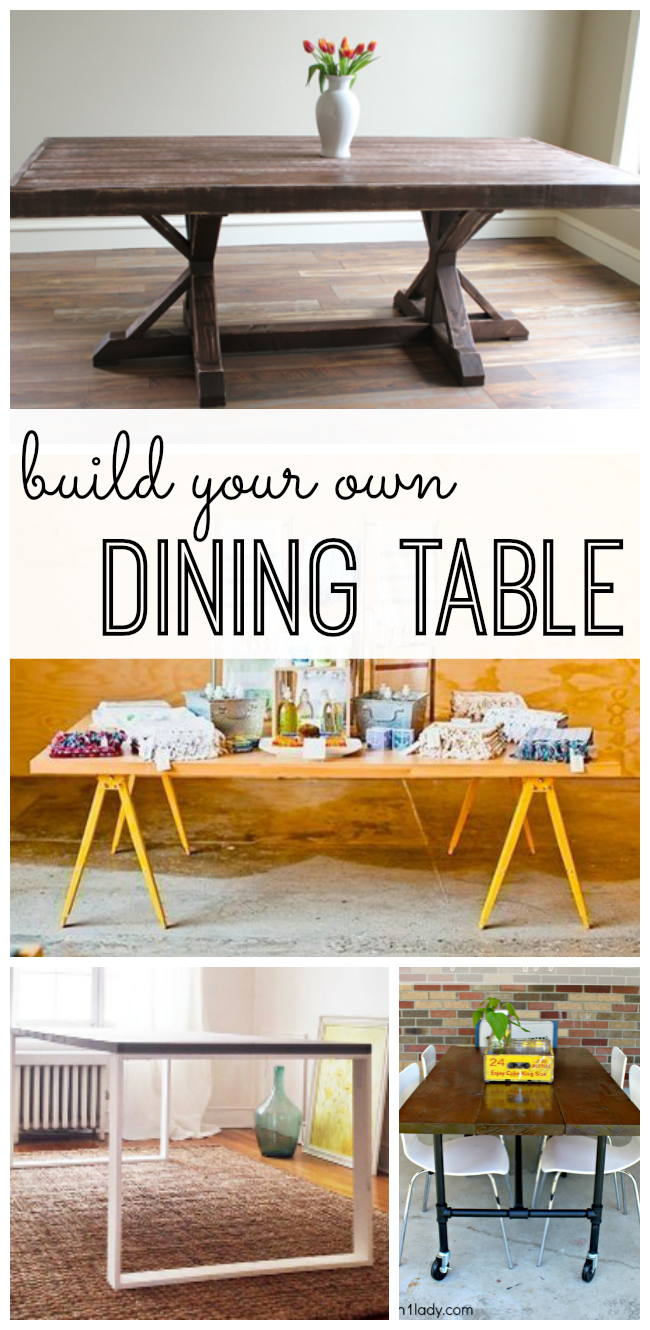 Build Your Own Dining Table Homemade Kitchen Tables Outdoor Dining Furniture Furniture Makeover