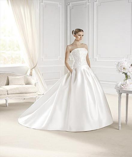 Esele - La Sposa - Princess Gown Dress- Mikado / Satin Dress - Pockets - Vestidus