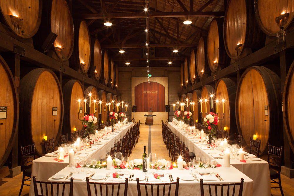 Tavolo Reception ~ Merryvale cask room u shaped wedding reception table