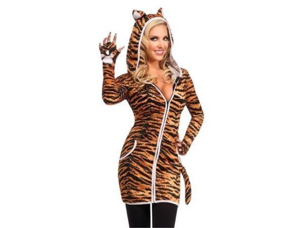 Sexy Womens Tiger Cat Halloween Costume Hoodie Dress  sc 1 st  Pinterest & Sexy Womens Tiger Cat Halloween Costume Hoodie Dress | Fashionista ...