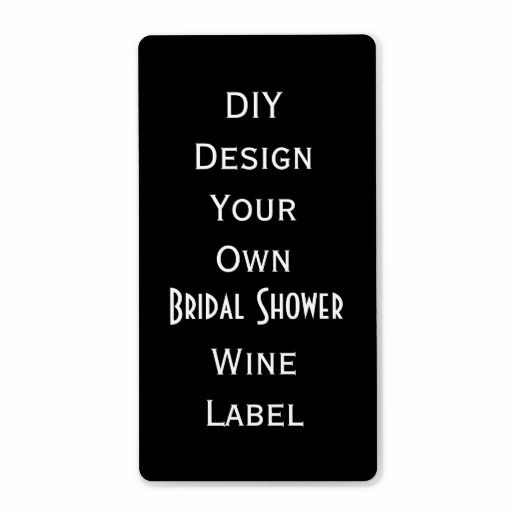 DIY  Bridal Shower Wine Label  Make Your Own V07