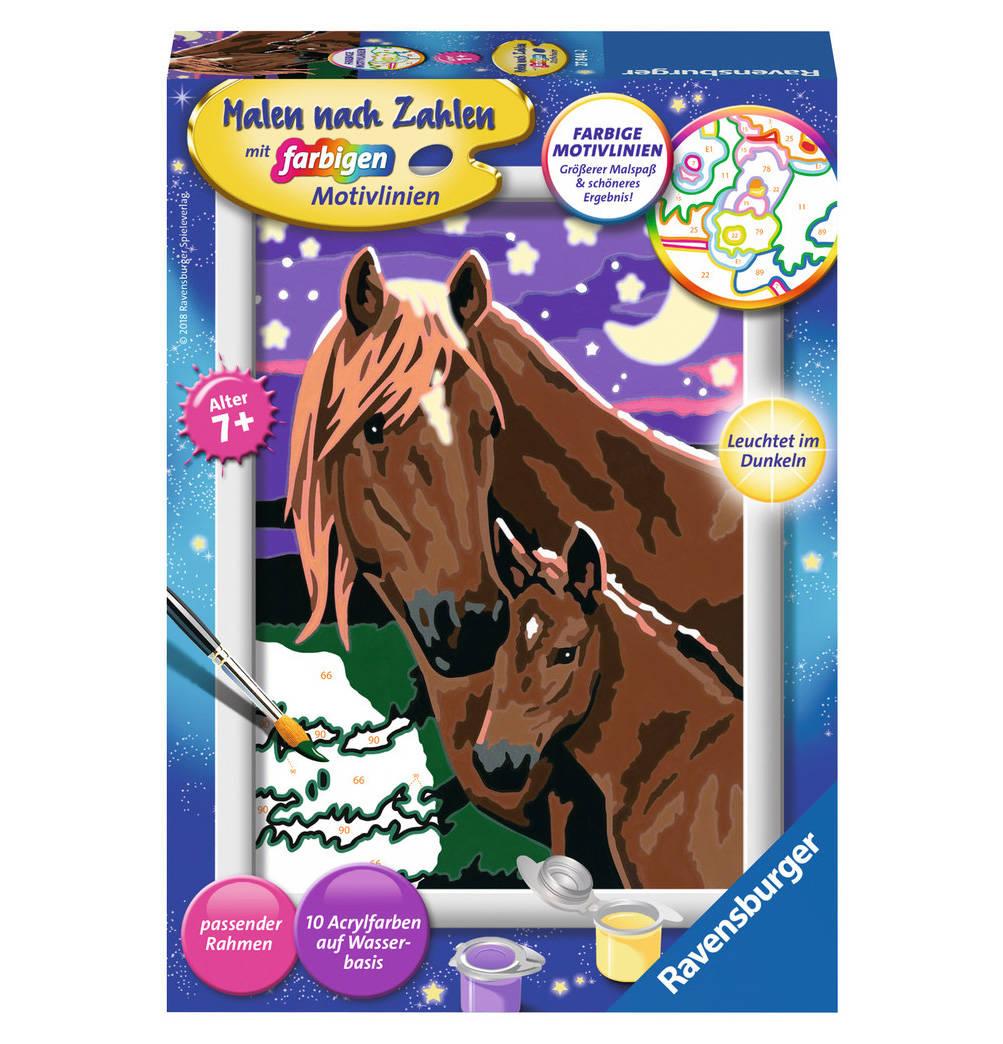 Ravensburger Malen Nach Zahlen 18x24 Cm Mit Farbigen Motivlinien Pferd Online Kaufen Malen Nach Zahlen Pferde Und Malen