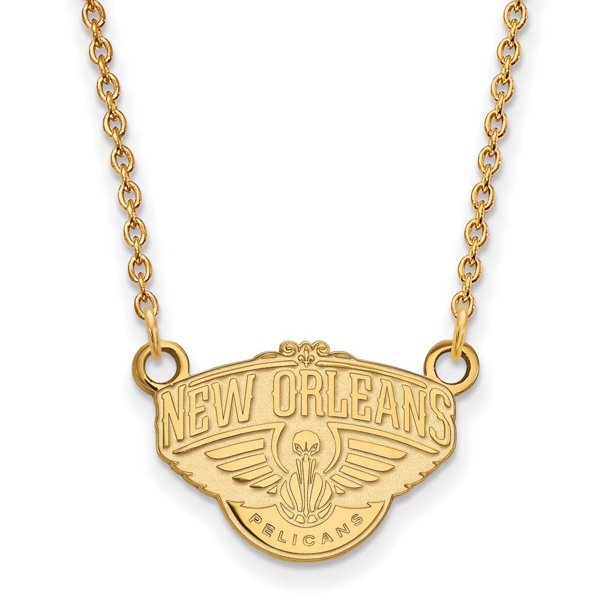 Logoart karat gold new orleans pelicans small pendant with