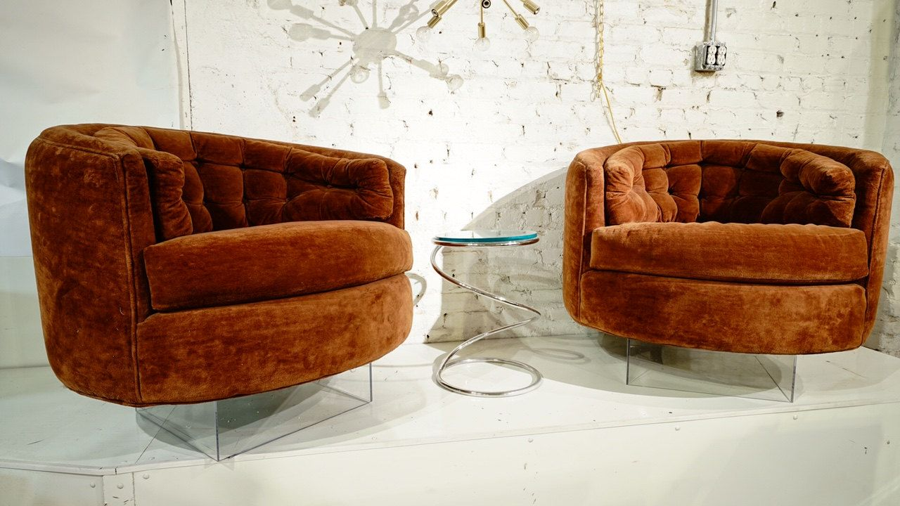 Stunning Milo Baughman Style Floating Tub Chairs by rspritchard on ...