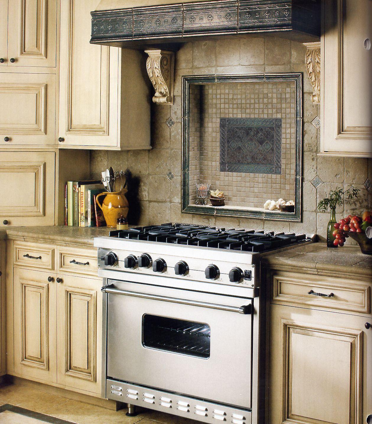 Kitchen Backsplash Neutral: Kitchen Hood With Regard To Kitchen Vent Hood Inserts How