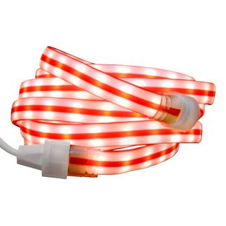 Red And White Ribbon Candy Cane Flat Rope Light Led Rope Lights Rope Light Led Lights