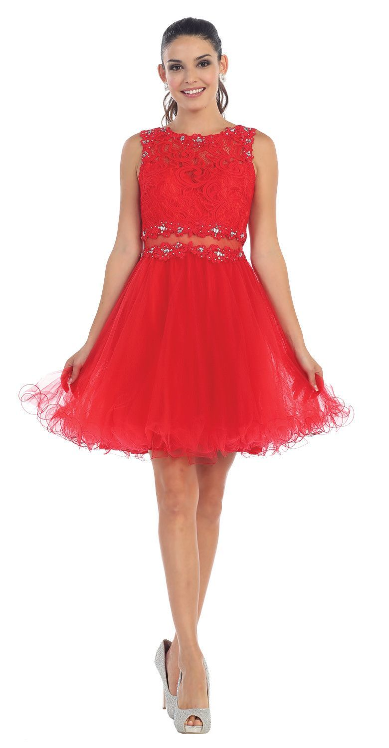 Short cute prom dress cocktail homecoming lace formal products