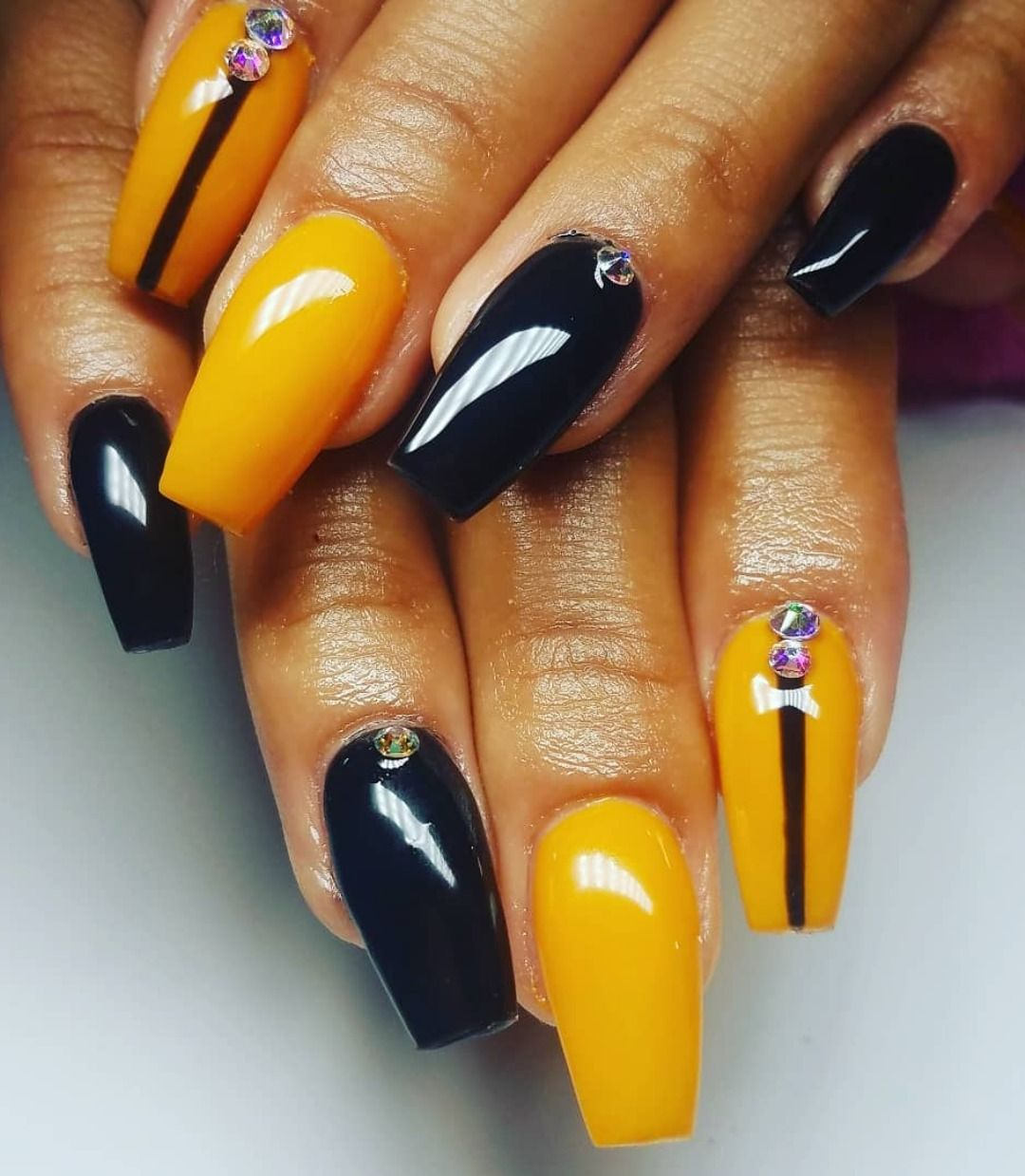 Best Yellow Nail Art Designs For Summer 2019 Stylish Belles Yellow Nail Art Black Nail Designs Yellow Nails