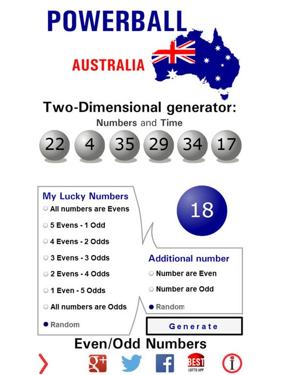 Australian Powerball Generator By Dragos Spataru Winning Numbers Powerball Winning Lottery Numbers