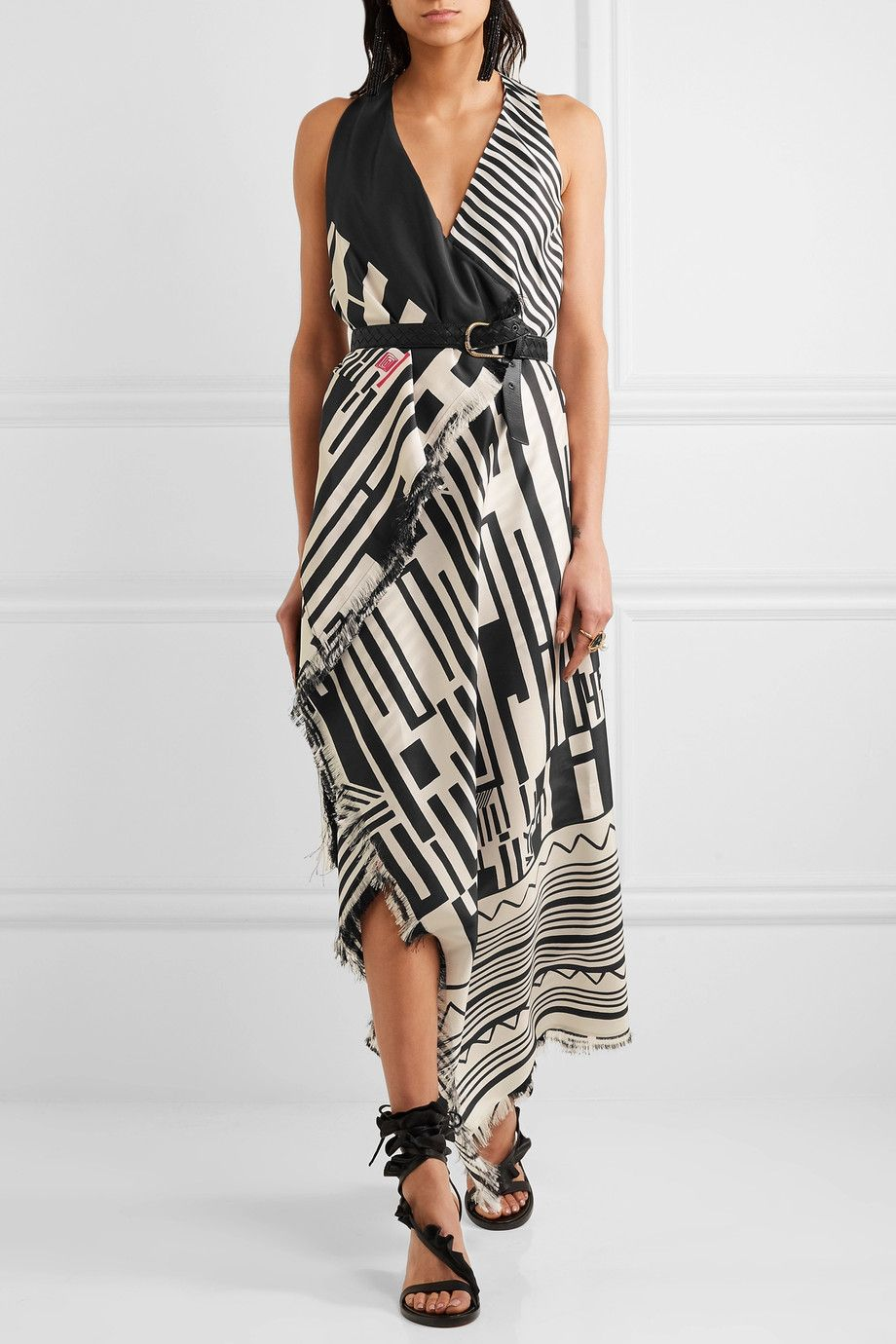Etro printed silk maxi dress netaportercom style