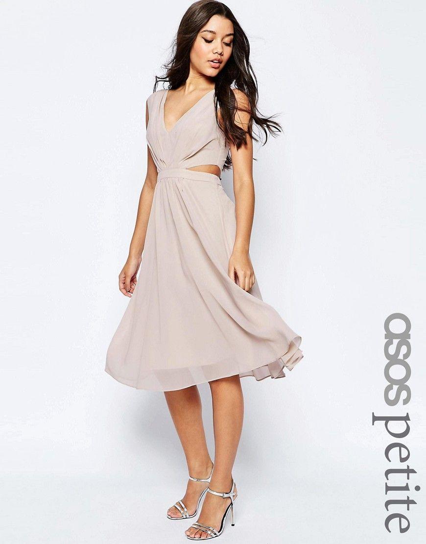 ASOSPETITESideCutOutMidiDress  dress  Pinterest  Side cuts