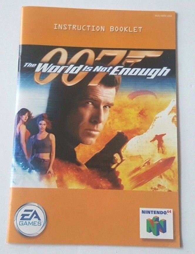 Nintendo N64 World Is Not Enough 007 Manual Only Instructions