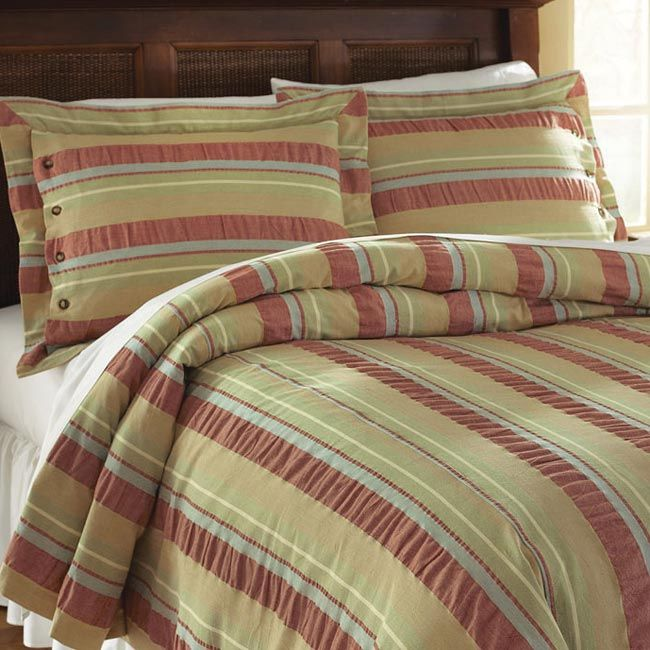 Just Found This Cotton Bedspread Earth Tone Seersucker