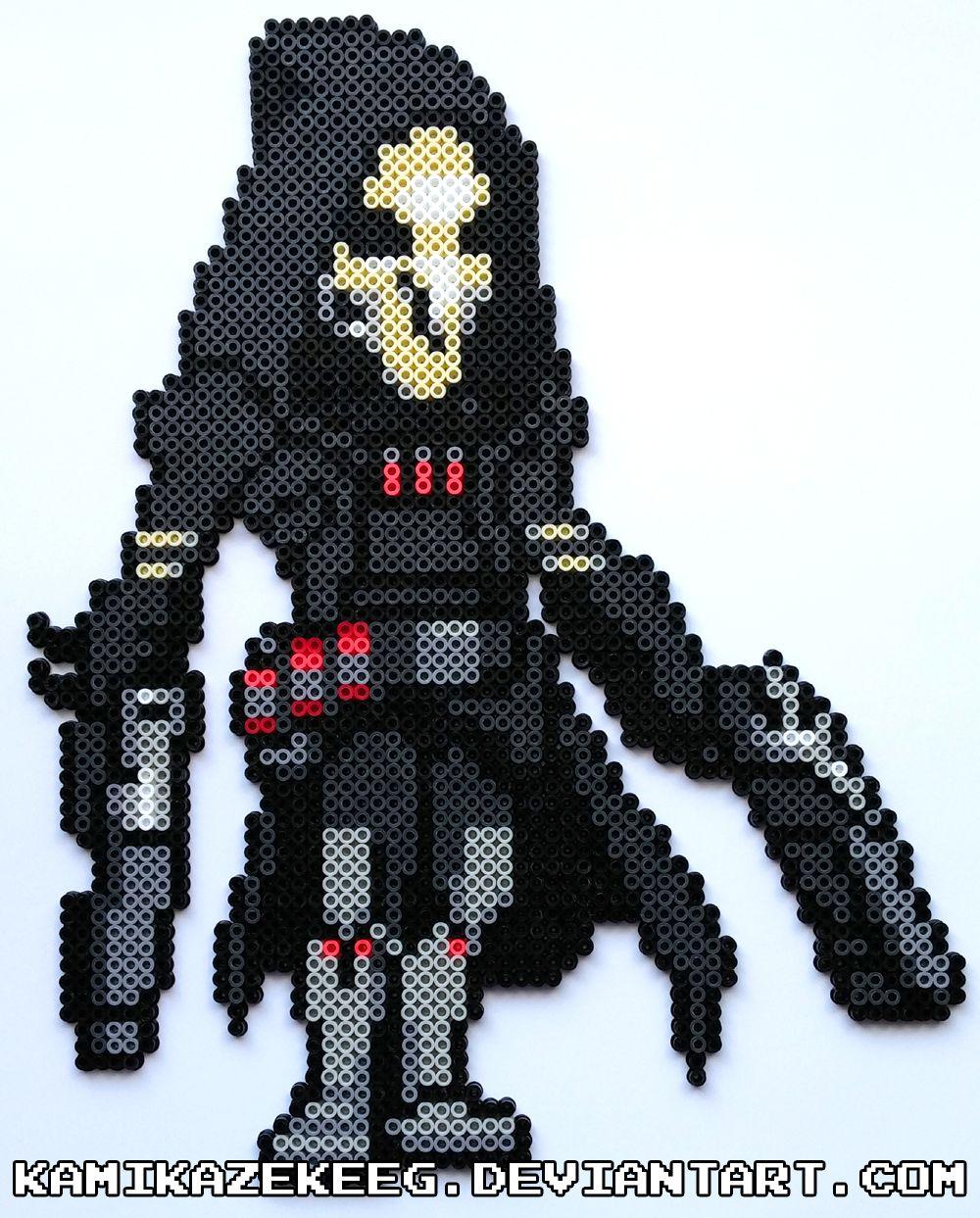 Overwatch Reaper Perler Beads by kamikazekeeg | Pixel Art