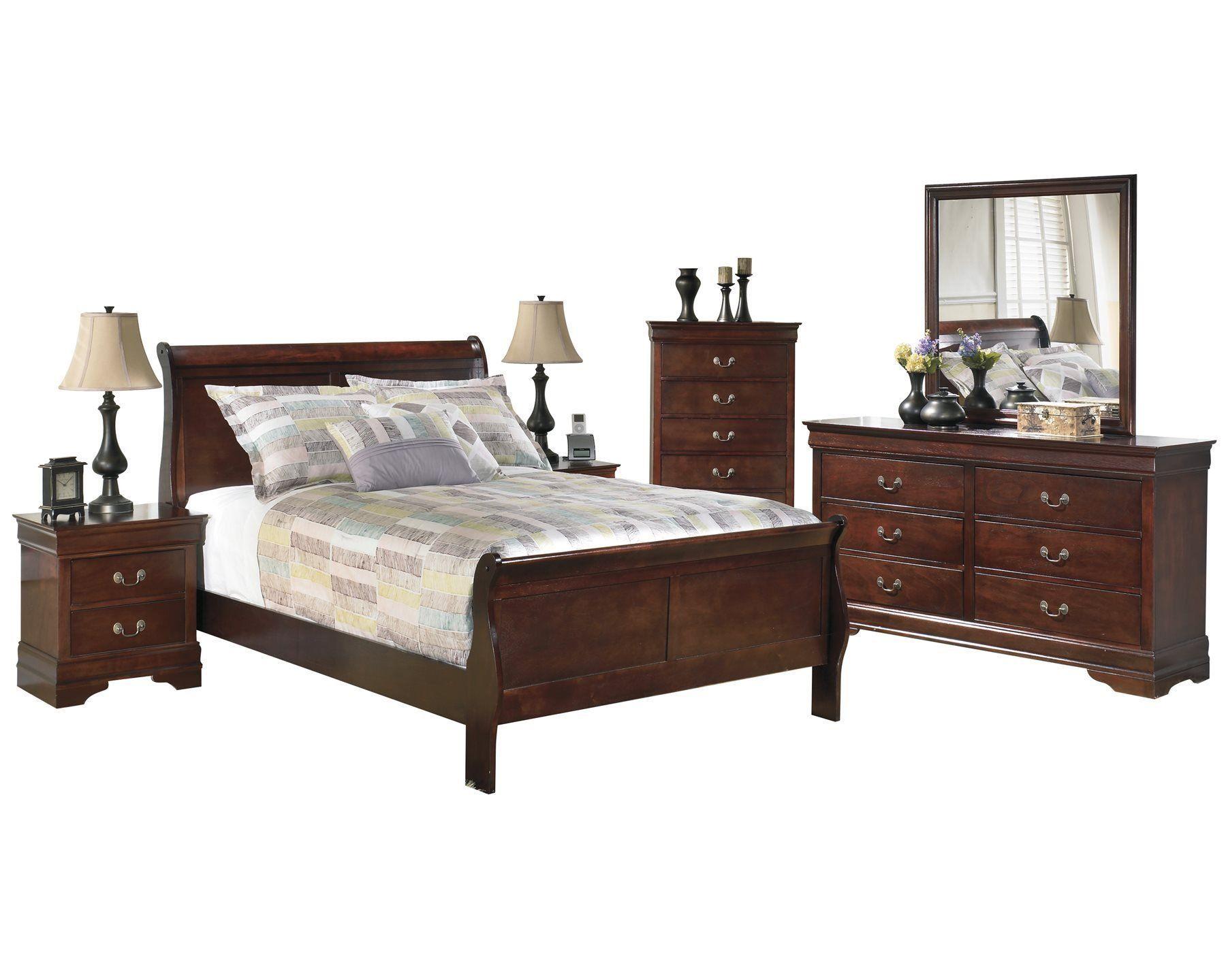 Ashley Alisdair 6PC Bedroom Set Full Sleigh Bed Two