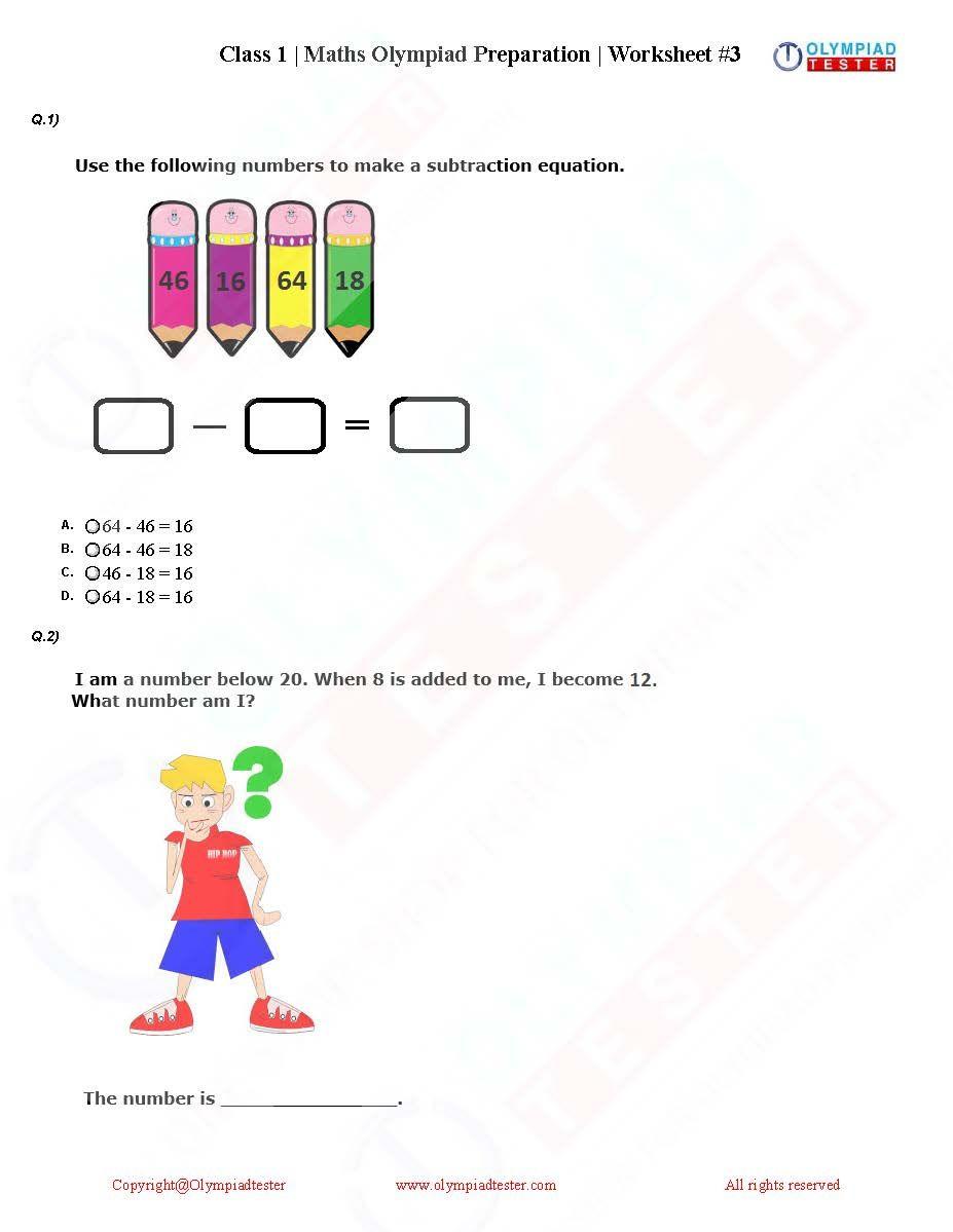 Pin On Akku Studies Grade math olympiad worksheets pdf
