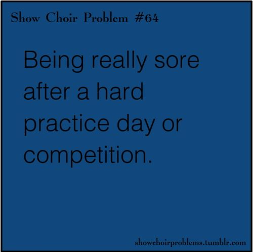 But it's that good type of sore especially if you placed well in finals ♥