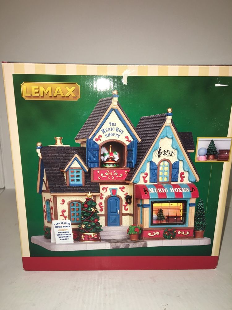 NEW NIB LEMAX The Music Box Shoppe Shop Lighted Porcelain