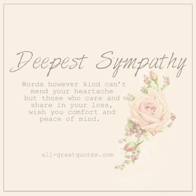 deepest sympathy cards