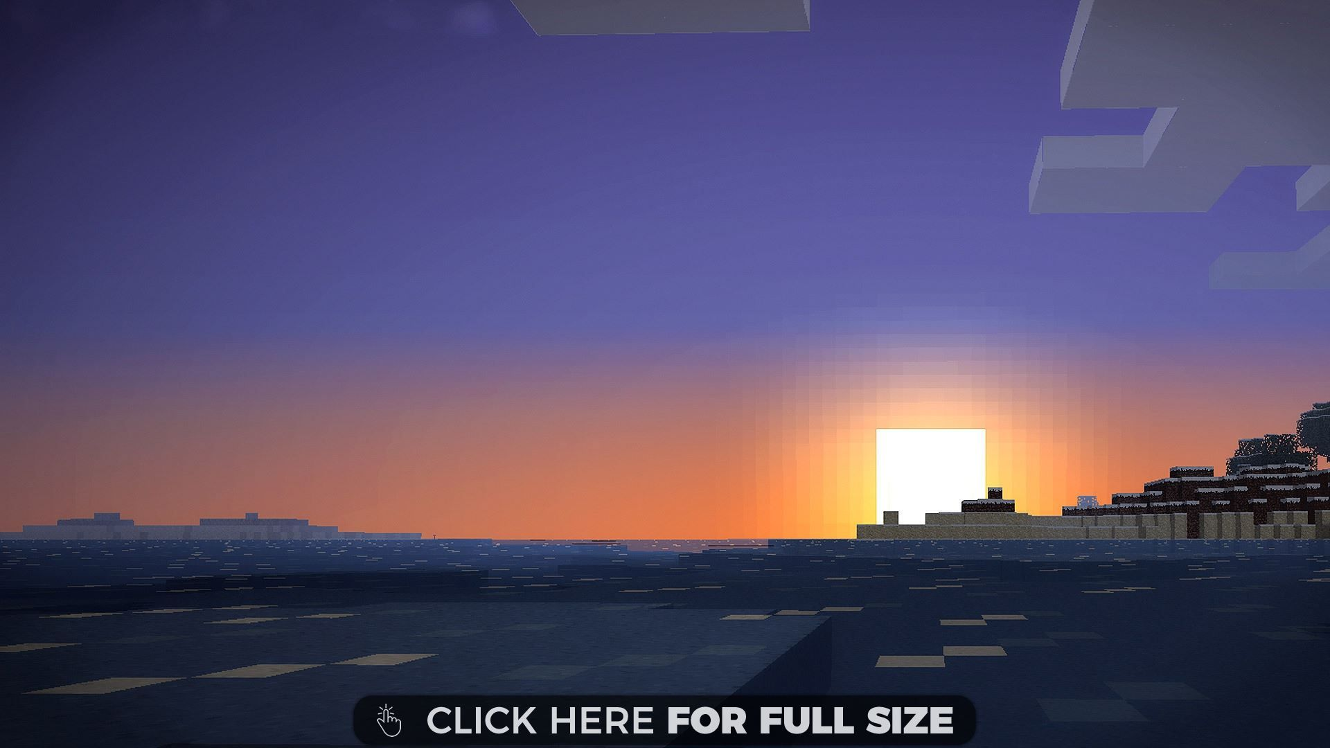 Minecraft Sunset Desktop Wallpapers Minecraft Wallpaper